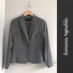 Banana Republic Gray Washable Classic Blazer